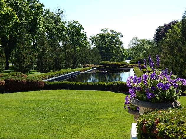 Reflection pool facing east