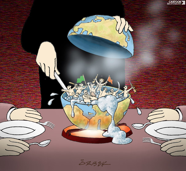 to the boil cartoon by Eray Ozbek