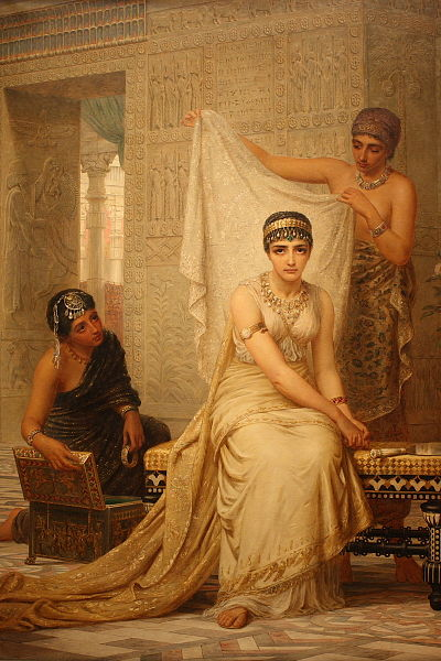 Esther in Harem Painting by Edwin Long, 1878