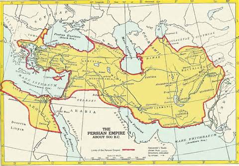 Persian Empire circa 500 BC