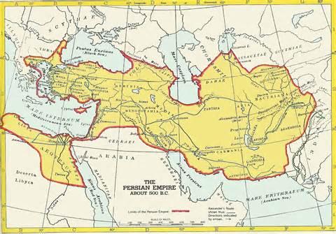 Persian Empire circa 500 BC