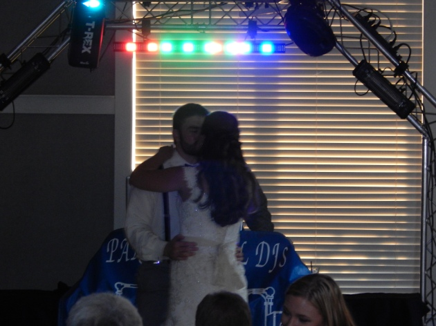 Man and wife kissing, again!