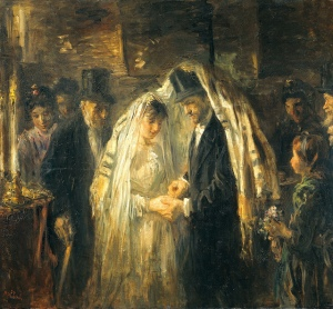 """Jewish Wedding"" by Jozef Israels (Dutch, 1824-1911)"