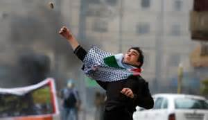 a Palestinian rock and firebomb thrower