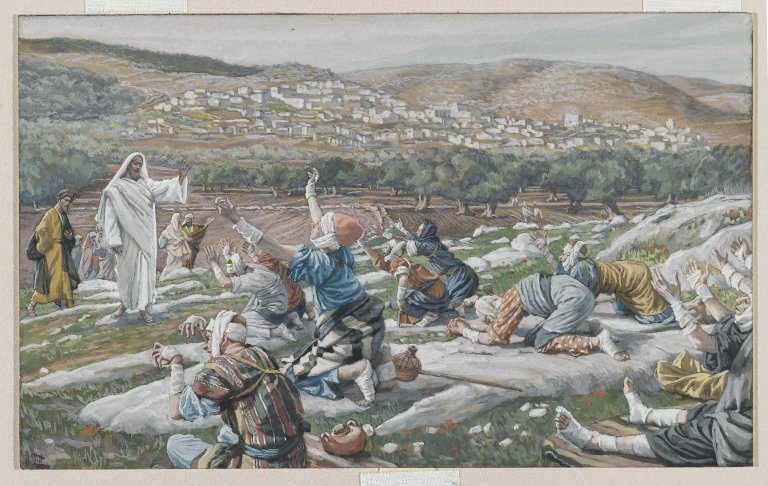 The_Healing_of_Ten_Lepers_(Guérison_de_dix_lépreux)_-_James_Tissot_-_overall